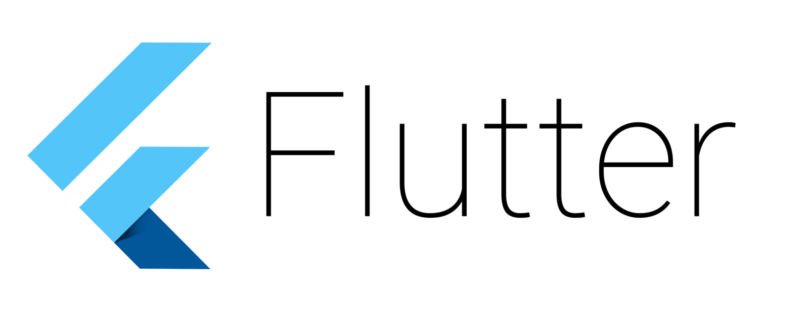 The Flutter logo.