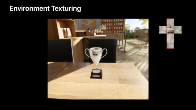 Apple showed off the new reflections possible with the texturing enhancements to developers at WWDC and in this online video.