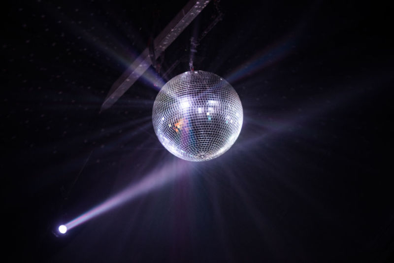 Disco ball at the Panorama Music Festival