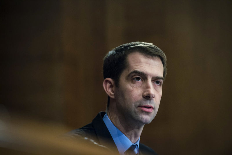 Arkansas Republican Sen. Tom Cotton is a leading opponent of Trump's ZTE deal.