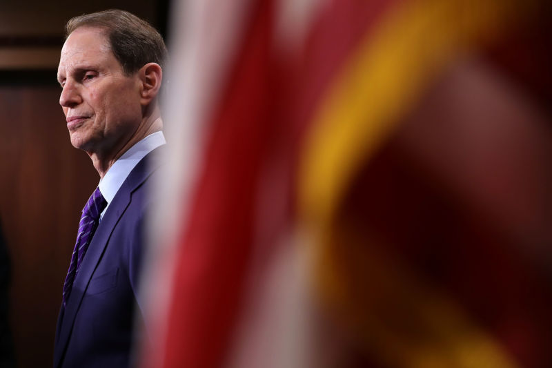 Senator Ron Wyden as seen February 7, 2018 in Washington, DC.