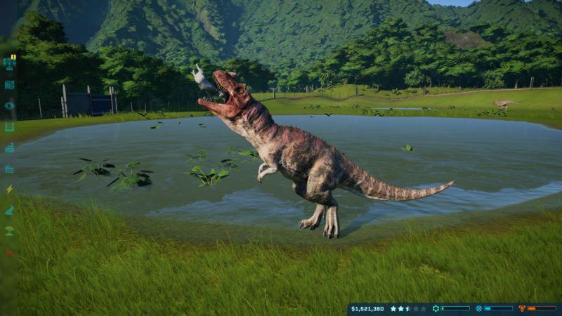 Screenshot from Jurassic World Evolution.