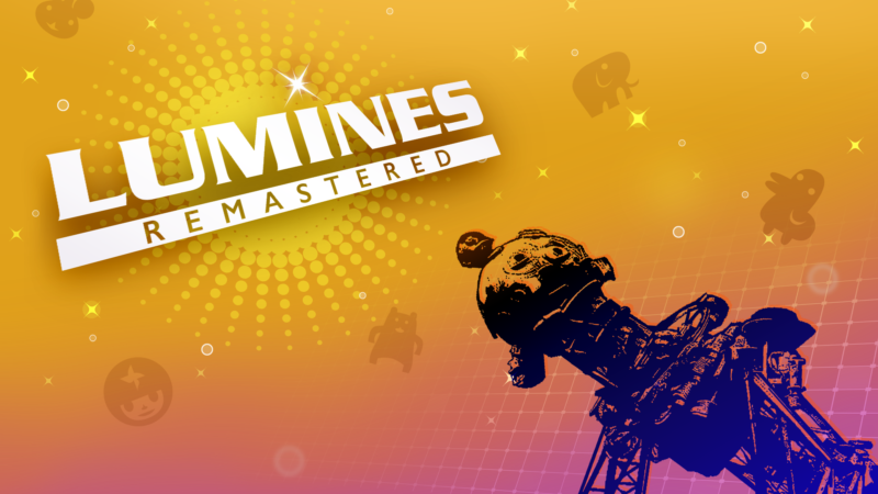Lumines Remastered turns the Nintendo Switch into a full-body vibration party