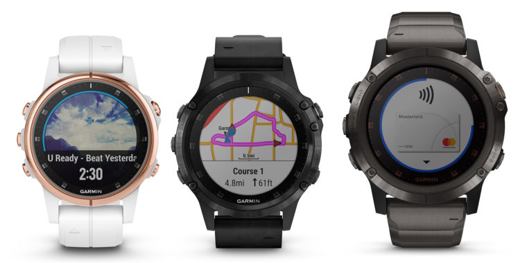 garmin brings music nfc payments onboard mapping to fenix 5 plus