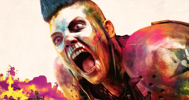 Screenshot of crazy-painted video game man screaming.