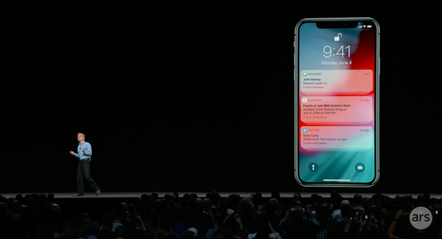 Notifications will be grouped by app in iOS 12 instead of being strewn out one by one.