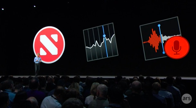 Apple presentation at WWDC 18.