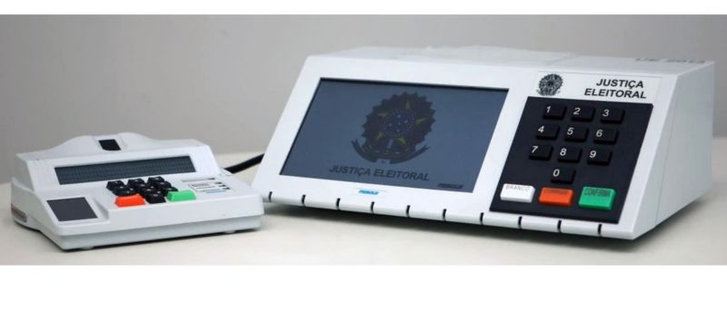 An electronic voting machine used in Brazil.