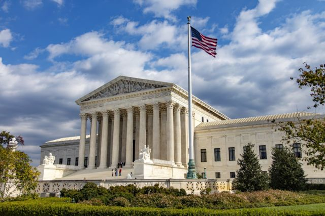 The US Supreme Court building in Washington, DC.