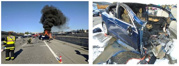 NTSB: Autopilot steered Tesla car toward traffic barrier before deadly crash