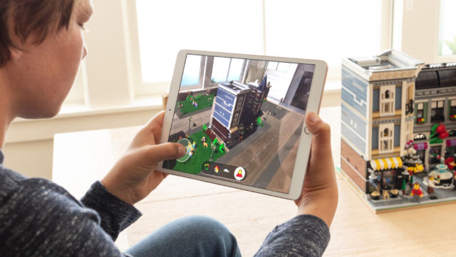 A LEGO app using Apple's new ARKit features.