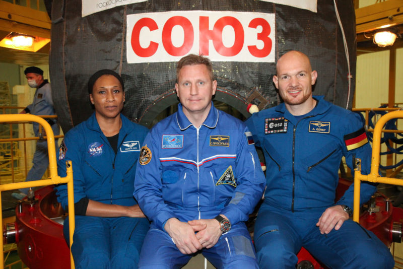 Jeanette Epps, left, is shown as an Expedition 54-55 backup crewmember on December 5, 2017. She was pulled from Expedition 56 at about this time.