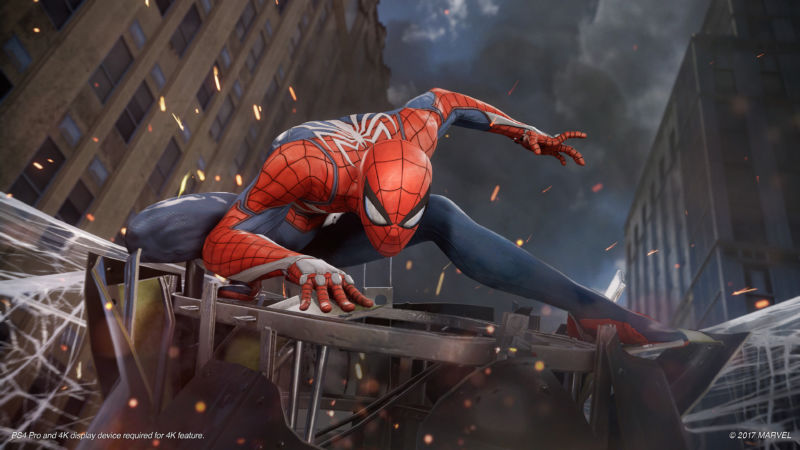 Promotional image from upcoming Spider-Man video game.