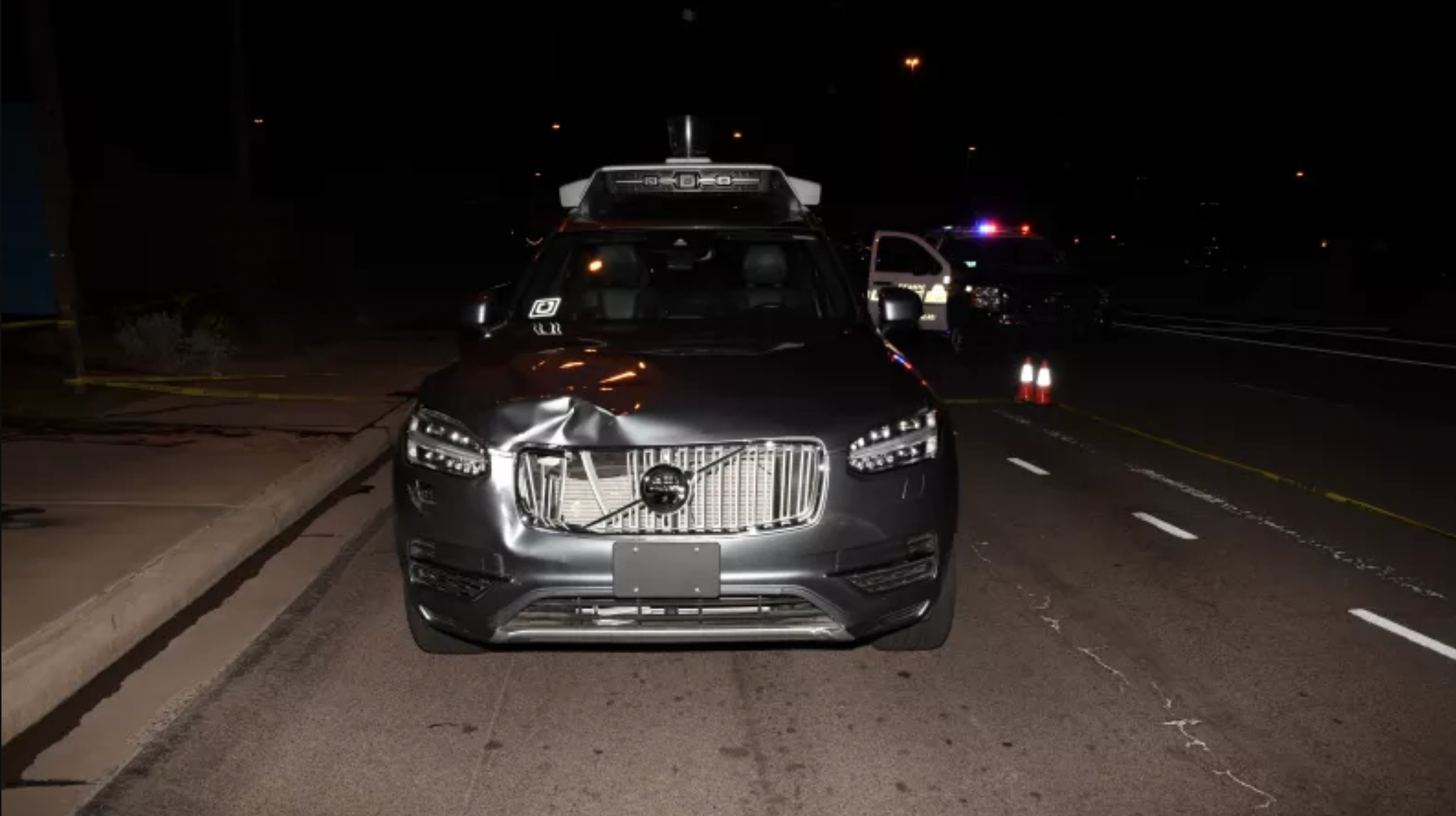 "A self-driving prototype owned by Uber <a href=""https://arstechnica.com/cars/2019/11/how-terrible-software-design-decisions-led-to-ubers-deadly-2018-crash/"">struck and killed Elaine Herzberg</a> in Tempe, Arizona, in 2018.'><img alt="