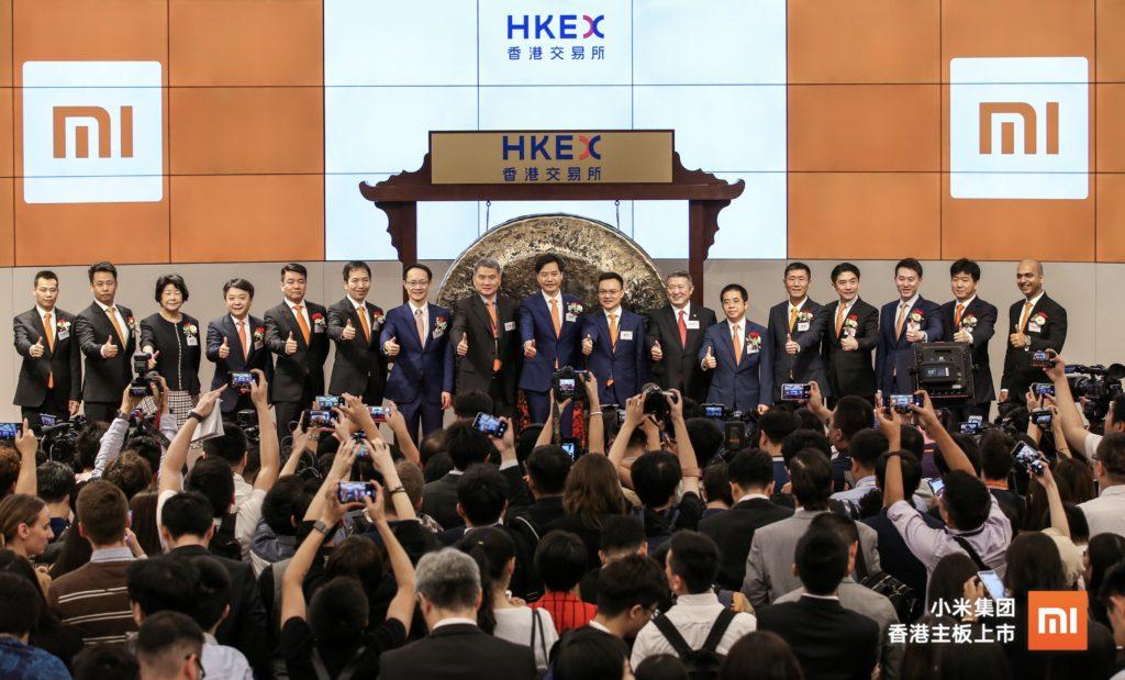 Enlarge Xiaomi Execs Open The Hk Stock Exchange