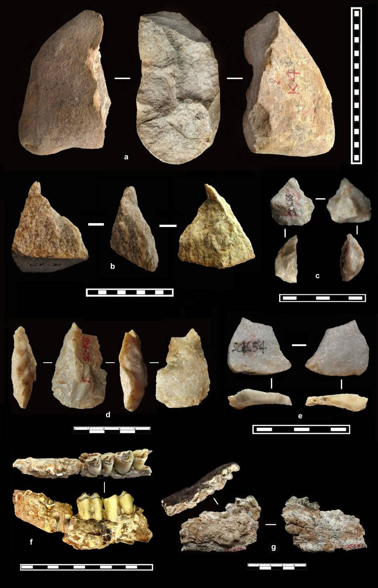 Stone tools collected from Shangchen, China.