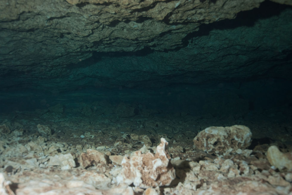 "A narrow area in a karstic limestone cave similar to the one in Thailand. If you look at that and think ""I want to go to there!"" then you might be a cave diver."