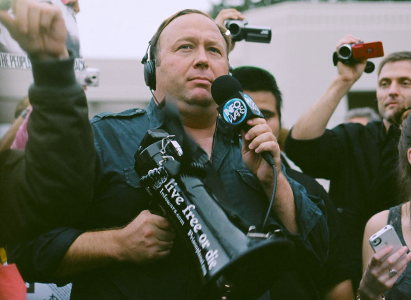 Conspiracy theorist Alex Jones.