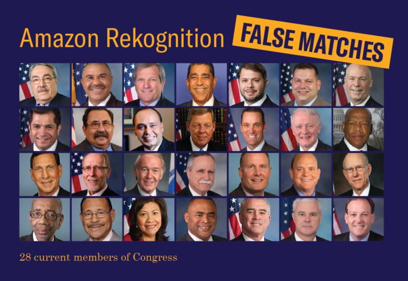 Amazon's Rekognition messes up, matches 28 lawmakers to mugshots