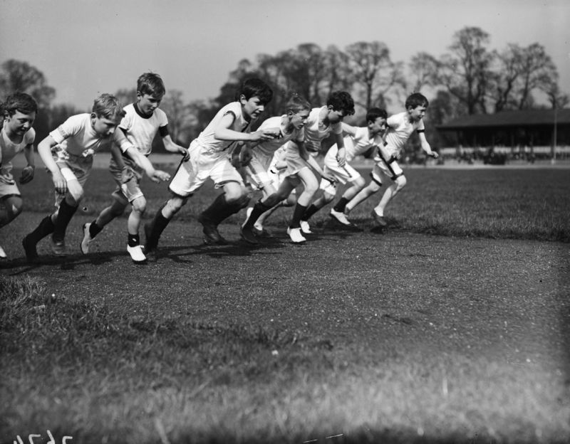 A lot has changed since 1918. But whether it's a literal (like the City of London School athletics' U12 event) or figurative (AI chip development) race, participants still very much want to win.