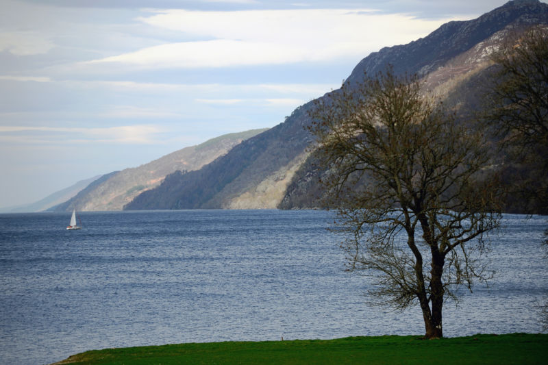 Loch Ness, seen from Fort Augustus in Scotland.