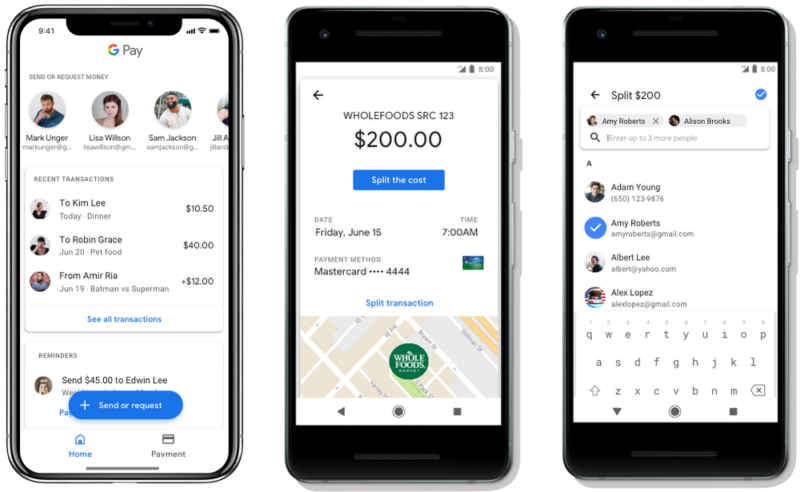 Pictures of Google Pay.