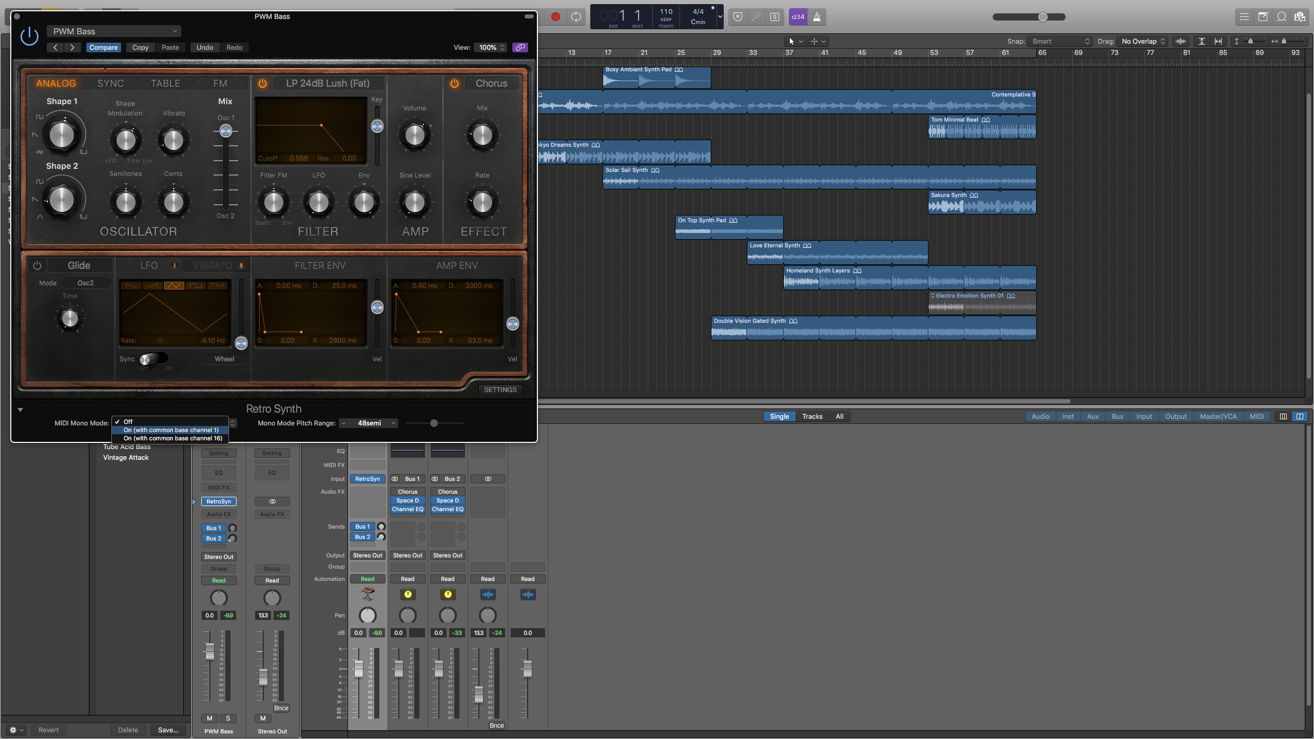Configuring one of Logic's software instruments for use with the ROLI Songmaker Kit.