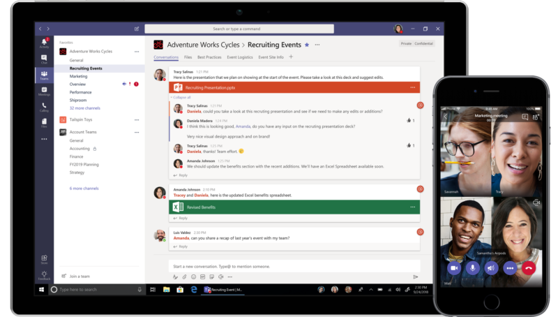 Microsoft debuts free tier in competitive workplace chat app market