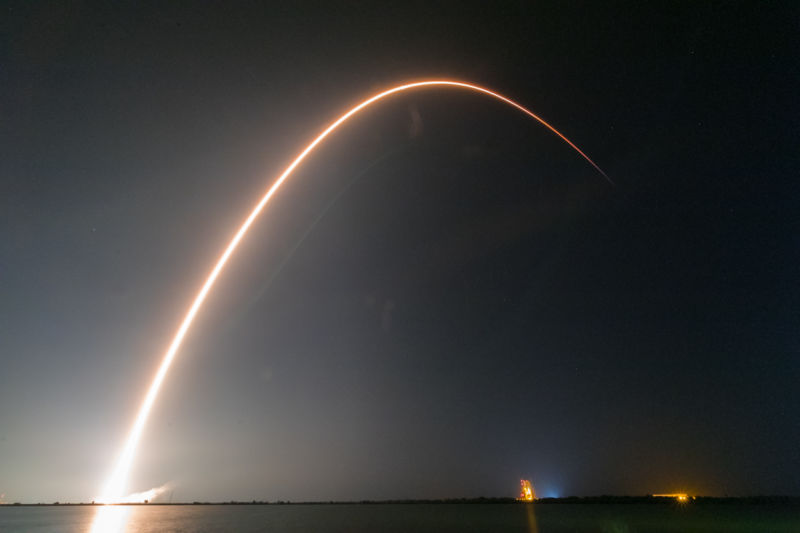 SpaceX Falcon 9 Rocket Launch From Cape Canaveral Air Force Station