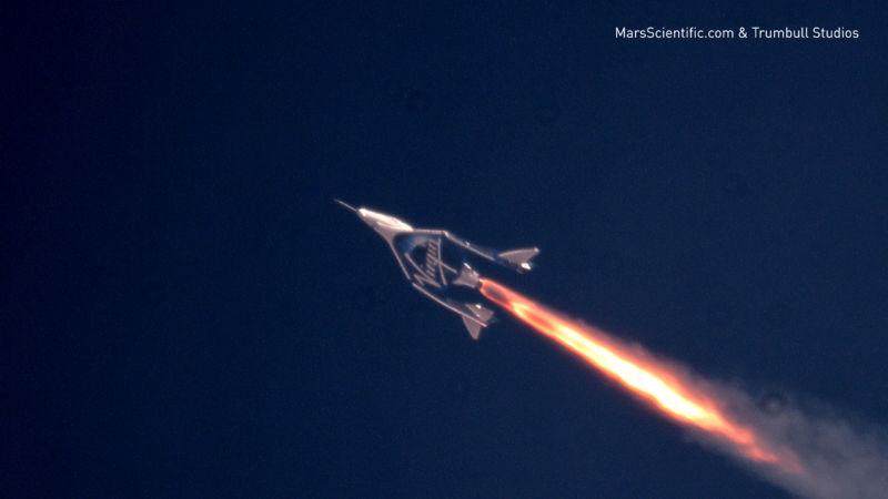 Virgin Galactic's third powered flight on July 26th 2018.