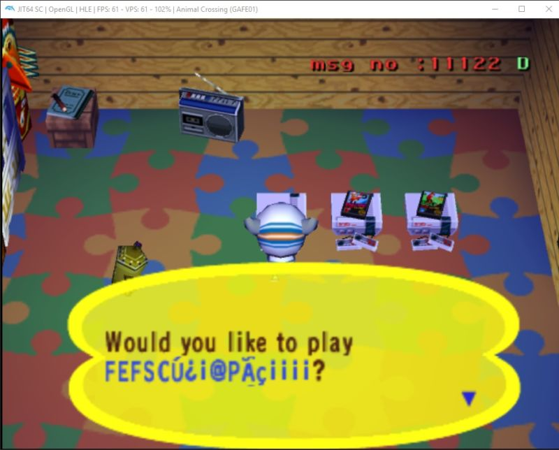 Screenshot from video game Animal Crossing.