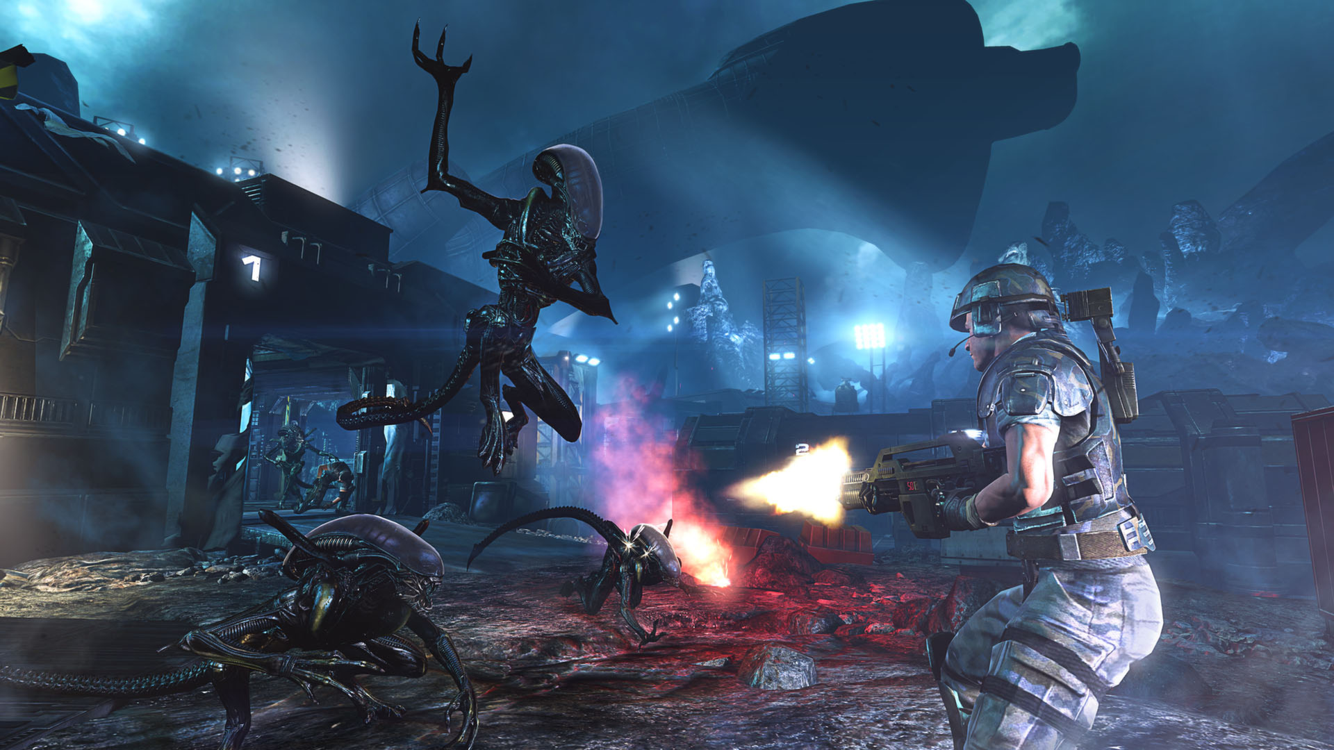 Enlarge / Want Aliens: Colonial Marines to better resemble this 'shopped  image? Just remove one letter!