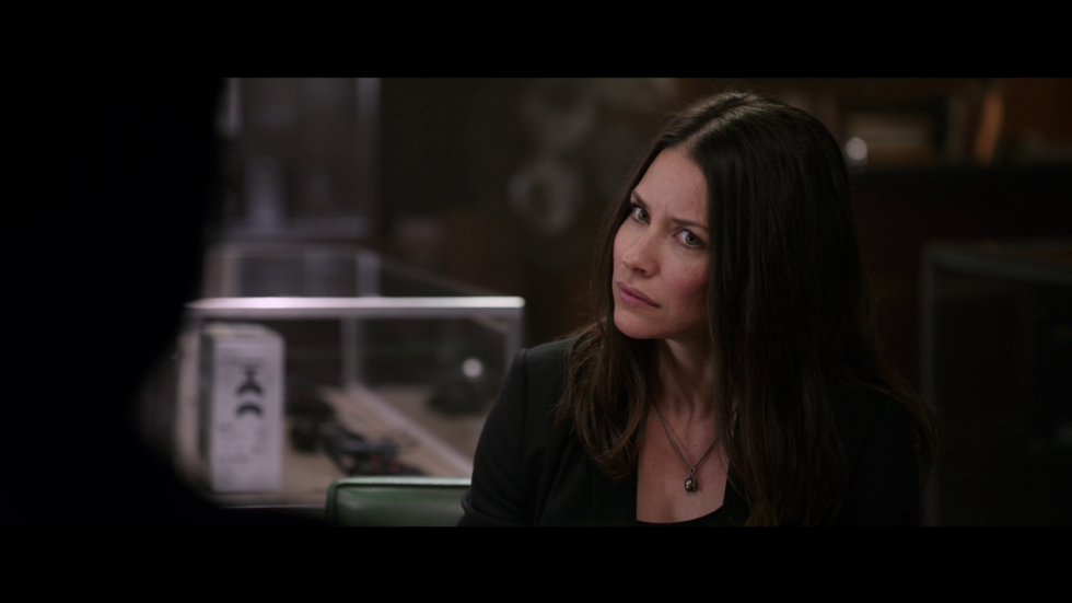 "This is Evangeline Lilly's ""why didn't I get better characterization in this film"" face."