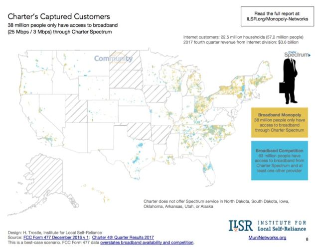 """Comcast, Charter dominate US; telcos """"abandoned rural ... on comcast business internet availability map, frontier internet availability map, verizon dsl availability map, dish internet availability map, cox internet availability map,"""