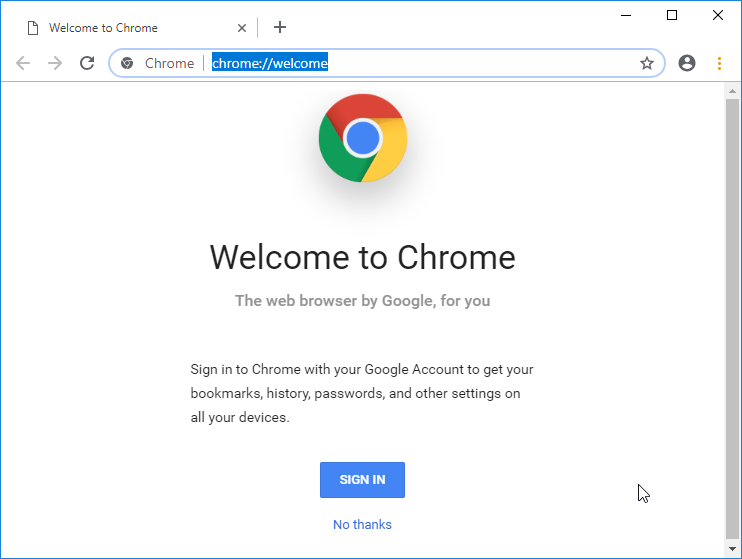 The new Chrome design. We get new tab shapes, a white tab background, rounded address bar, and more.