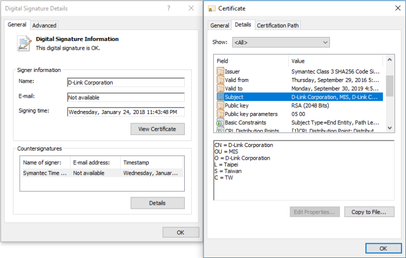 Stolen certificates from D-Link used to sign password-stealing