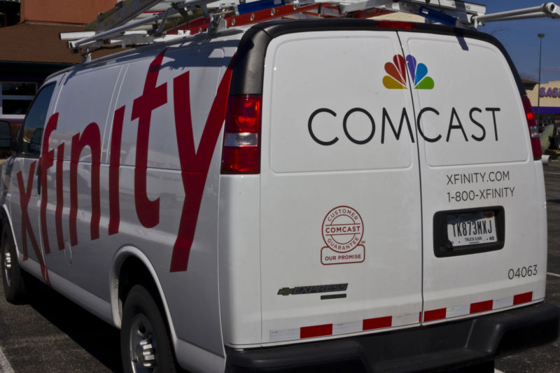 A Comcast service van.