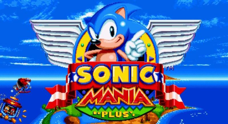 Sonic Mania Plus title screen