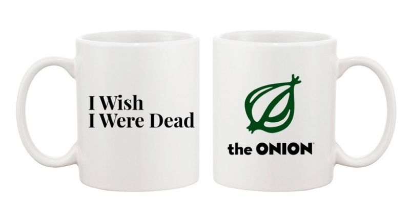 Want to buy these official The Onion mugs? They're only $15. Owning the full Onion and Gawker portfolios, on the other hand, may cost more.