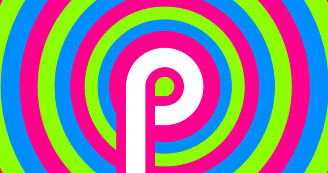 The psychedelic Android P easter egg.