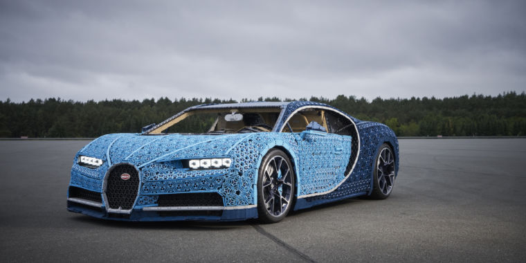 Lego Built A Drivable Bugatti Chiron Out Of Million Pieces Technic Ars Technica