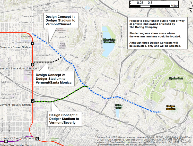 Proposed routes for the Dugout Loop.