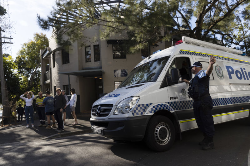Police attend the scene of a suspected murder on August 10, 2018 in Sydney, Australia.