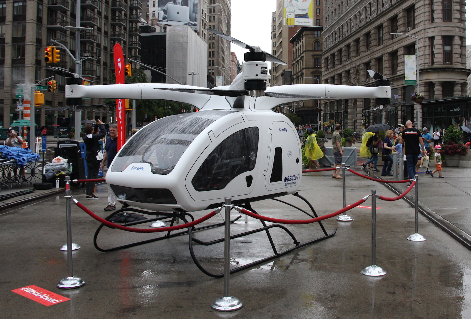 Workhorse Brings An Electric Pickup Truck Helicopter To Manhattan