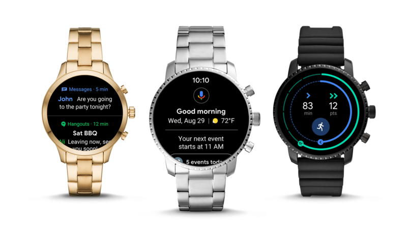 Image of Wear OS watches.