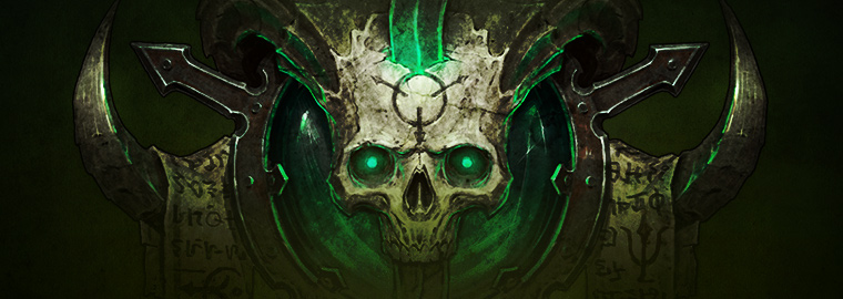 Necromancer-themed art from <em>Diablo III</em>'s last expansion.