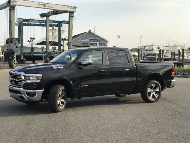 The '19 RAM 1500 Laramie edition doesn't handle like a boat, but it sure can pull one—in style.