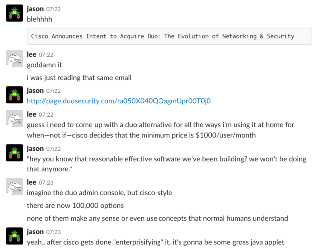 The Ars Slack instance is a place for hard-hitting discussion and stuff.