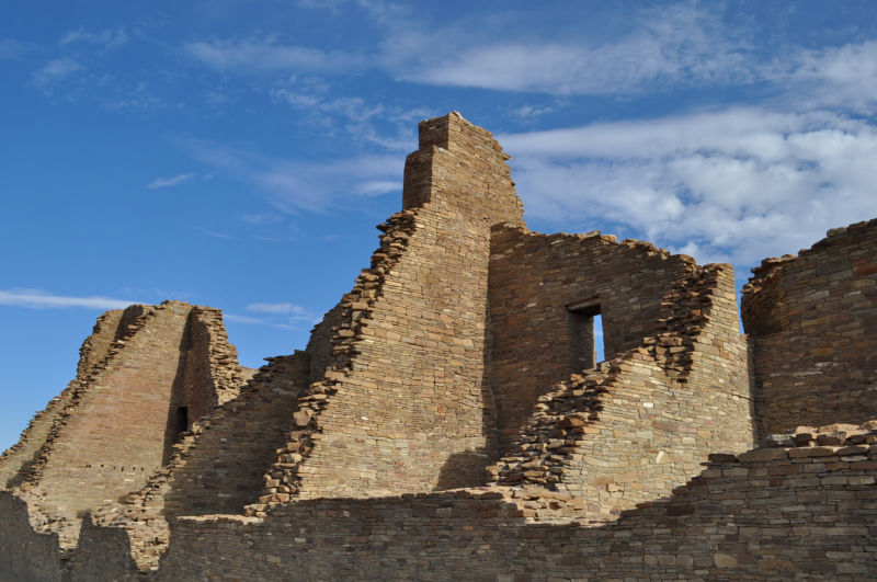 Chaco Canyon ruins in New Mexico.