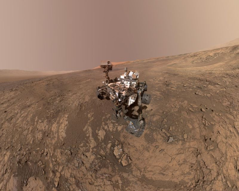 NASA's Curiosity rover is rolling around where a lake once sat.